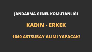 Jandarma Genel Komutanlığı Kadın - Erkek 1640 Astsubay Alımı Yapacak!