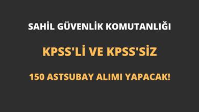 Sahil Güvenlik Komutanlığı KPSS'li ve KPSS'siz 150 Astsubay Alımı Yapacak!