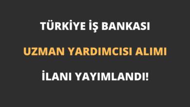 Türkiye İş Bankası Uzman Yardımcısı Alımı 2021 İlanı Yayımlandı!
