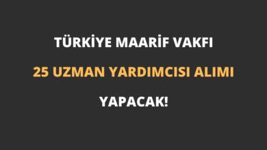 Türkiye Maarif Vakfı 25 Uzman Yardımcısı Alımı Yapacak!