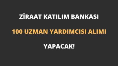 Ziraat Katılım Bankası 100 Uzman Yardımcısı Alımı Yapacak!