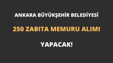 Ankara Büyükşehir Belediyesi 250 Zabıta Memuru Alımı Yapacak!