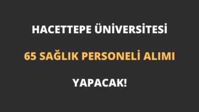 Hacettepe Üniversitesi 65 Sağlık Personeli Alımı Yapacak!