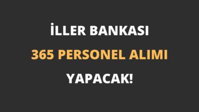 İller Bankası 365 Personel Alımı Yapacak!