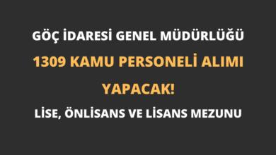 Göç İdaresi Genel Müdürlüğü 1309 Kamu Personeli Alımı Yapacak!