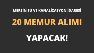 Mersin Su ve Kanalizasyon İdaresi 20 Memur Alımı Yapacak!