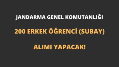 Jandarma Genel Komutanlığı 200 Erkek Öğrenci (Subay) Alımı Yapacak!