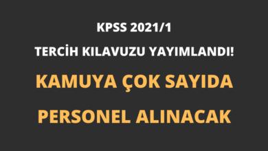 KPSS 2021/1 Tercih Kılavuzu Yayımlandı! (Kamuya Çok Sayıda Personel Alınacak)