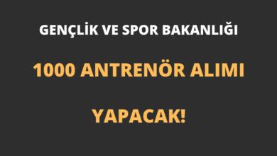 Gençlik ve Spor Bakanlığı 1000 Antrenör Alımı Yapacak!