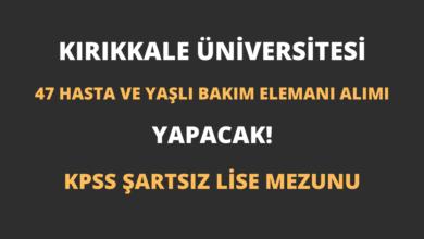 Kırıkkale Üniversitesi 47 Hasta ve Yaşlı Bakım Elemanı Alımı Yapacak!