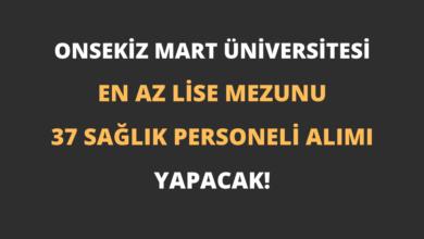 Onsekiz Mart Üniversitesi En Az Lise Mezunu 37 Sağlık Personeli Alımı Yapacak!