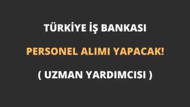 Türkiye İş Bankası Personel (Uzman Yardımcısı) Alımı Yapacak!