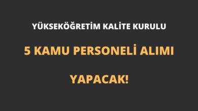 Yükseköğretim Kalite Kurulu 5 Kamu Personeli Alımı Yapacak!