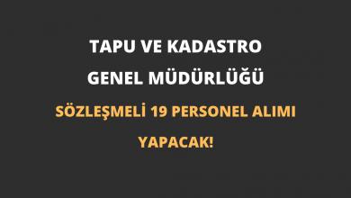 Tapu ve Kadastro Genel Müdürlüğü Sözleşmeli 19 Personel Alımı Yapacak!